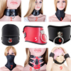 SM Bondage Role Play Muzzle Mouth Mask Neck Collars And Leash Fetish Choker Gear Adult Games S&M Slave Sex Toys For Couples
