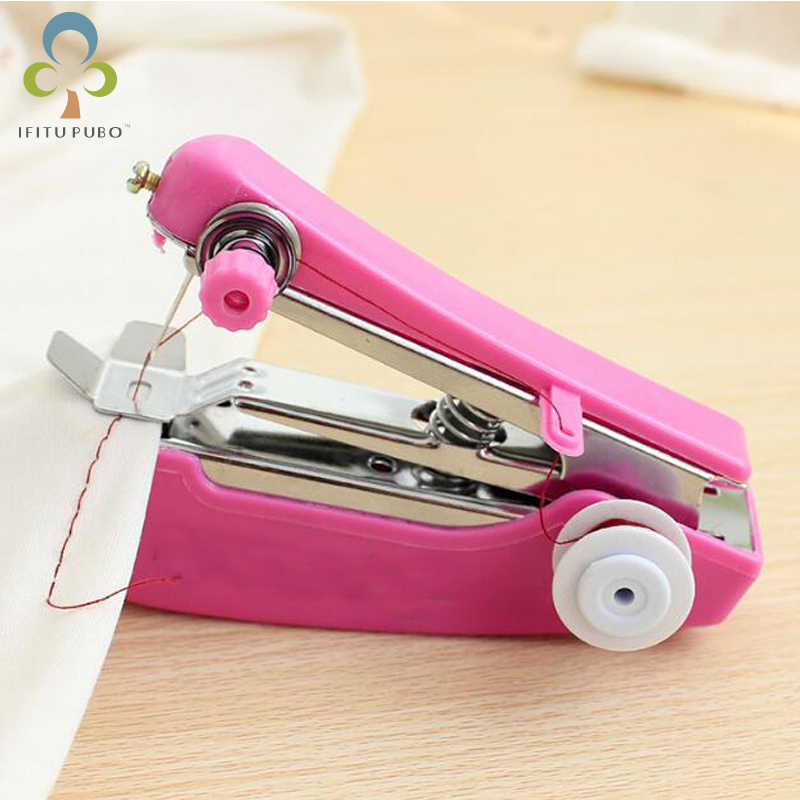1pc Portable Mini Manual Sewing Machine Simple Operation Sewing Tools Sewing  Cloth Fabric Handy Needlework Tool LYQ