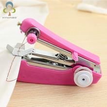 1pc Portable Mini Manual Sewing Machine Simple Operation Sewing Tools Sewing  Cloth Fabric Handy Needlework Tool LYQ(China)