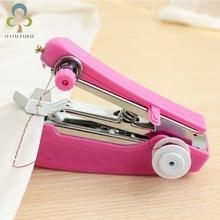 1 unidad, Mini máquina portátil de costura manual, fácil operación, herramientas de costura, tela de costura, práctica herramienta de costura LYQ