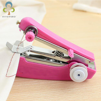 1pc Portable Mini Manual Sewing Machine Simple Operation Sewing Tools Sewing Cloth Fabric Handy Needlework Tool LYQ Appliances Electronics Household Appliances Sewing Machine