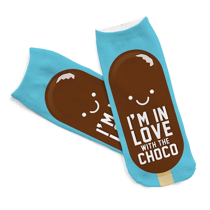 Vendita Calda di Trasporto libero Calzini 3D Chocolate Ice Cream Colore Blu  Cozy Calzini Sottili Calzini Comodi 28ae4e6397a