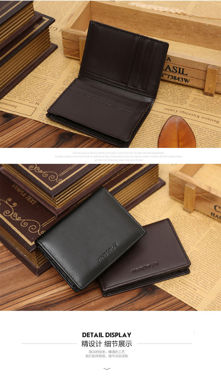 New Arrival Quality Men Business Card Wallets Fashion Patent Leather