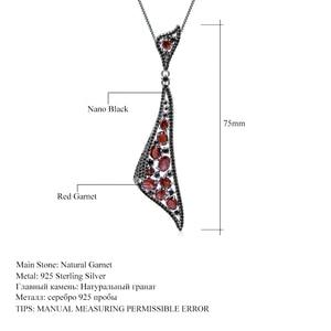Image 5 - Gems バレエ 6.32Ct ナチュラルガーネット 925 スターリングシルバーヴィンテージゴシックパンクペンダントネックレス女性のためのファインジュエリー