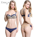 ERAEYE Sexy Bra Set Lace Adjustable Strap Removable Shoulder Strap Push Up Bras 34 36 38 40 1/2 B Cup  Bras Gather Underwire