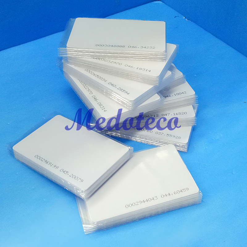 100 Pcs 0.8mm 125khz Rfid Card TK4100 Chip Keycard  Read Only Access Rfid Thin Card For Access Control System Key Only