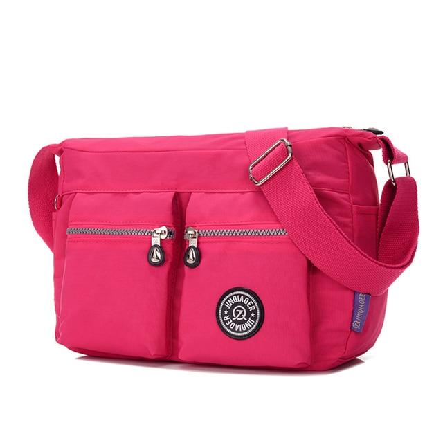 Women Messenger Bags Small Shoulder Bag High Quality Waterproof Nylon Tote  Bag Multi-pockets Satchel Bag Candy Color Handbags b7f462ddccd03