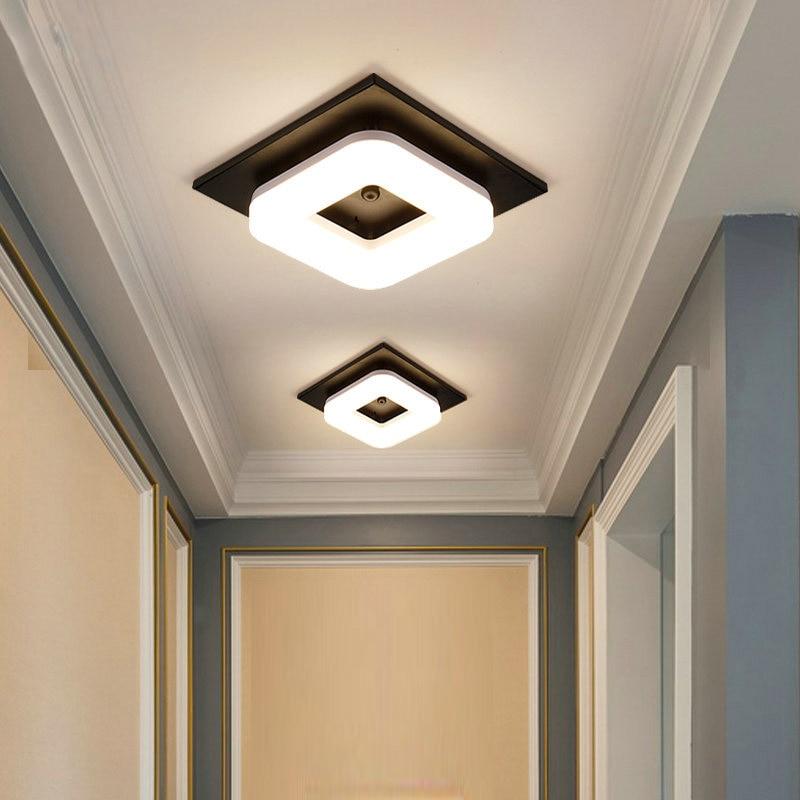 LED Modern Mount Ceiling Lights Avize Square Lustre Luminarias Lamps for Home Aisle Corridor Balcony Hallway Ceiling Lighting