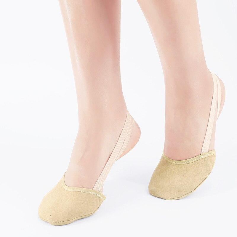 Rhythmic Gymnastics Shoes Soft Half Socks Children Adult Elastic Ballet Dance Half Shoes