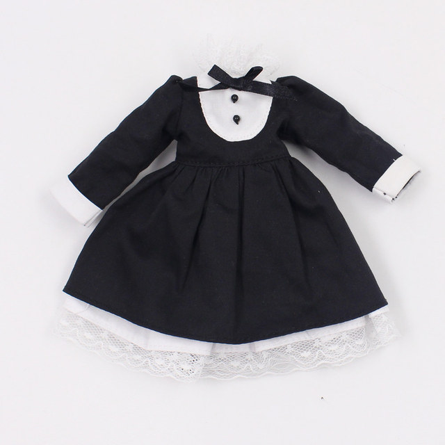 Black Cosplay Dress For 1/6 Doll