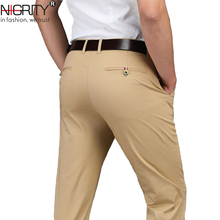 NIGRITY Brand 2020 New Autumn Winter New Fashion Straight Fit Mens Business Casual Cotton Pant Man Trousers Plus Big Size 28 42