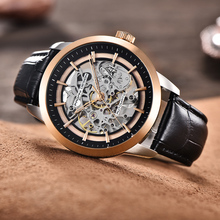 PAGANI DESIGN Brand Hot Sale 2018 Skeleton Hollow Leather Men's Wrist Watches Luxury Mechanical Male Clock New Relogio Masculino
