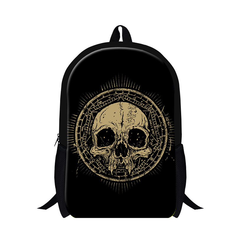 2016 Cool Skull Printing Backpack Bolsas Mochilas Kids School Bags Pirates Bag Punk Style Mens Casual Travel Bags Shoulders Bags