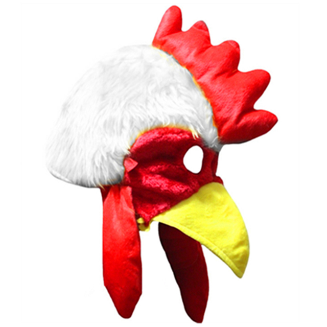 Cartoon Cotton Animals Cock Chicken Cap Cosplay Rooster Face Mask Autumn Winter Soft Warm Hat Fit