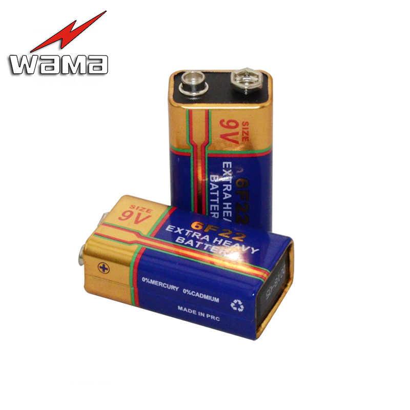 2ピース/ロットwama 6f22バッテリー9ボルト一次層-建て積層カーボン電池用警報ワイヤレスマイク無水銀新しい