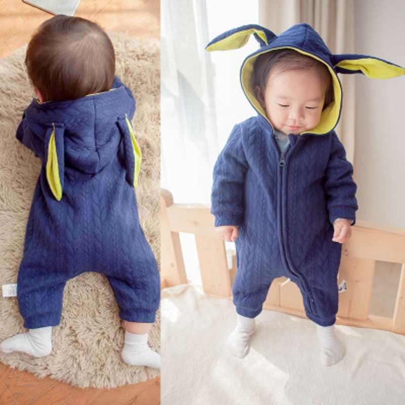 Детские сказки 1 шт. Детский комбинезон Детский милый кролик с капюшоном длинный рукав комбинезон детский продукт хлопок Новорожденный Детский комбинезон CR060-1