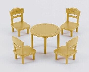 Mini speelgoed kamer eetkamer set( miniatuur eettafel met stoelen ...