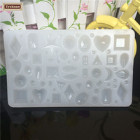 Crystal Mirrored Geometric Jewelry Pendant Mold Ornament Mould Resin Craft DIY Making Tool For Epoxy Resin