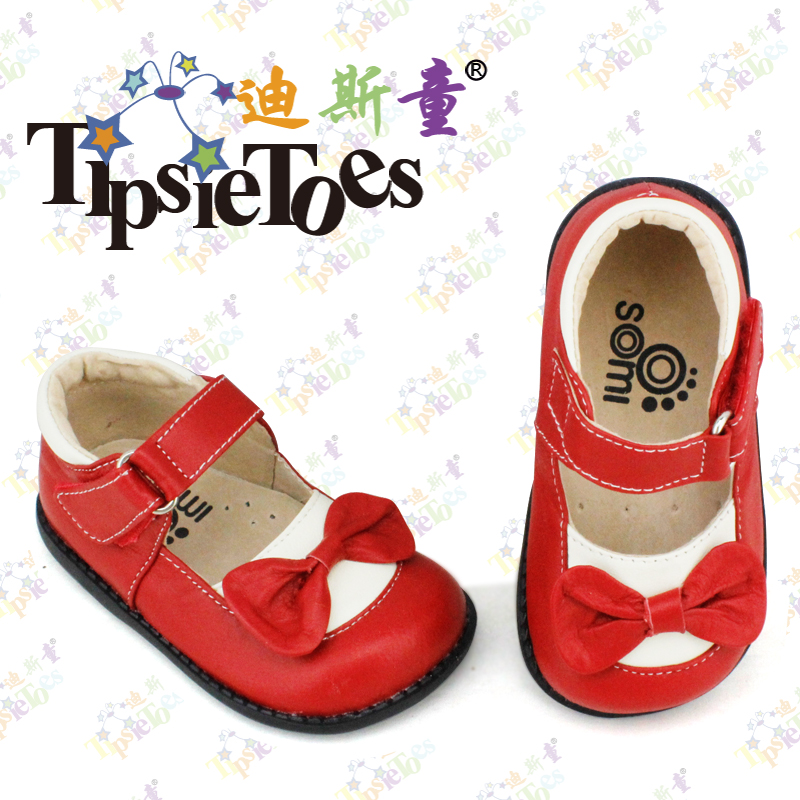 TipsieToes Brand Bow Genuine Leather Baby Kids School Shoes Moccasins For Girls Princess New 2017 Autumn Spring Fashion 22252 24 pairs 1bag strip genuine leather baby shoes tassel handmade baby boys first walkers fashion shoes baby moccasins fringe