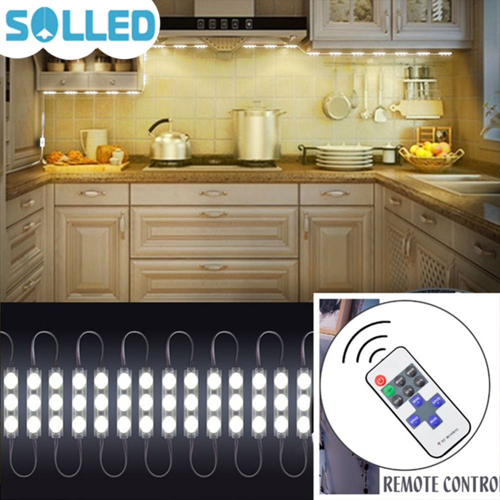 SOLLED 12V 20W 2400LM SMD5730 LED Mirror Light with Remote Control Brightness Dimmable for Cabinet Closet Decoration