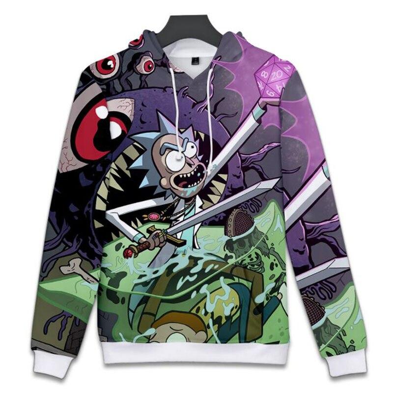 Rick and Morty 3D Hoodies Sweatshirt Men Women Long Sleeve Pullover Hoody Tops Hip hop Funny Hooded Tracksuit Brand Soprtswear