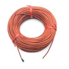 10 м Инфракрасный нагревательный пол нагревательный кабель системы 3 мм силикагель углеродного волокна провода используется в 220 В напряжение 150 Вт 12 к 33 Ом/м