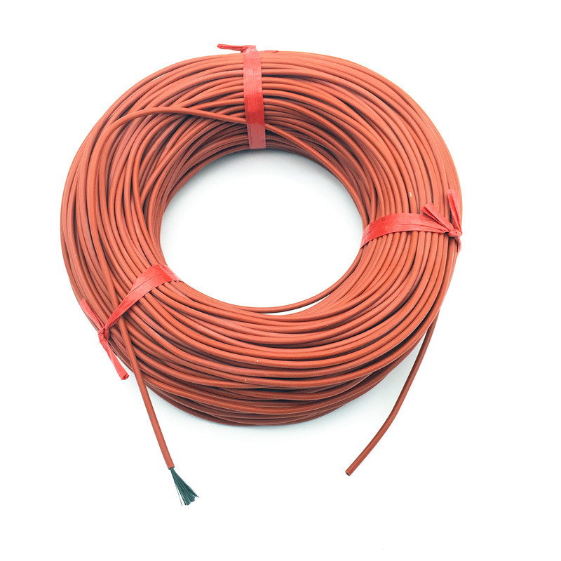 10M  Infrared Heating  Floor Heating Cable System  Of 3mm Silica Gel Carbon Fiber Wire  Used In 220v Voltage 150w 12K 33ohm / M