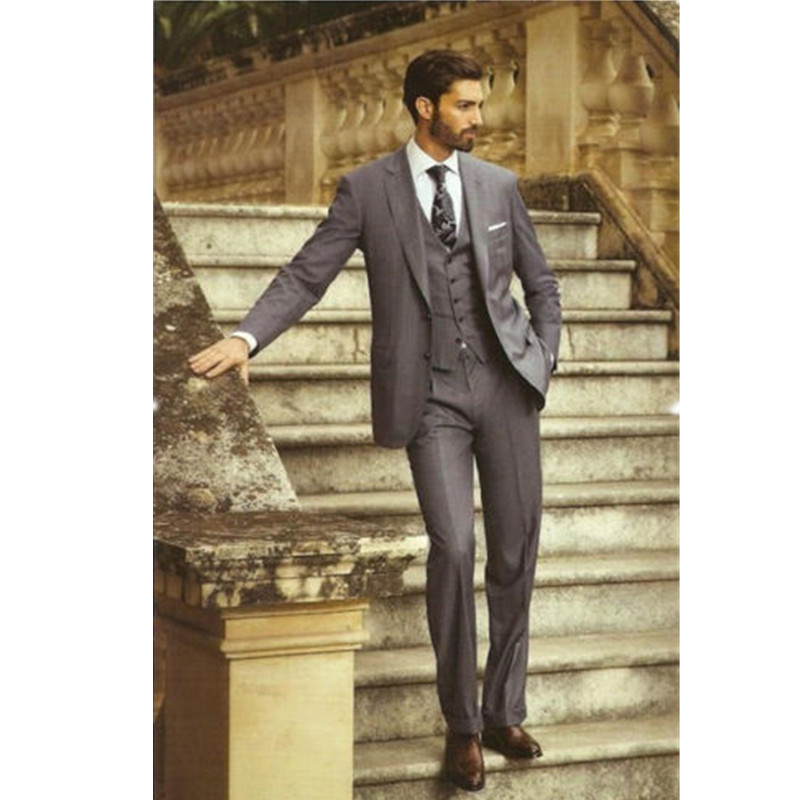 Compare Prices on Grey 3 Piece Suits- Online Shopping/Buy Low ...