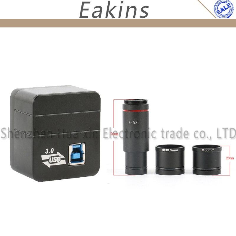 5.0MP USB3.0 HD цифровой промышленный микроскоп Видео с резьбовым соединением типа C электронная камера + 0.5X C MOUNT HDMI DVI Переходник HDMI DVI и 30 мм/30,5 мм п
