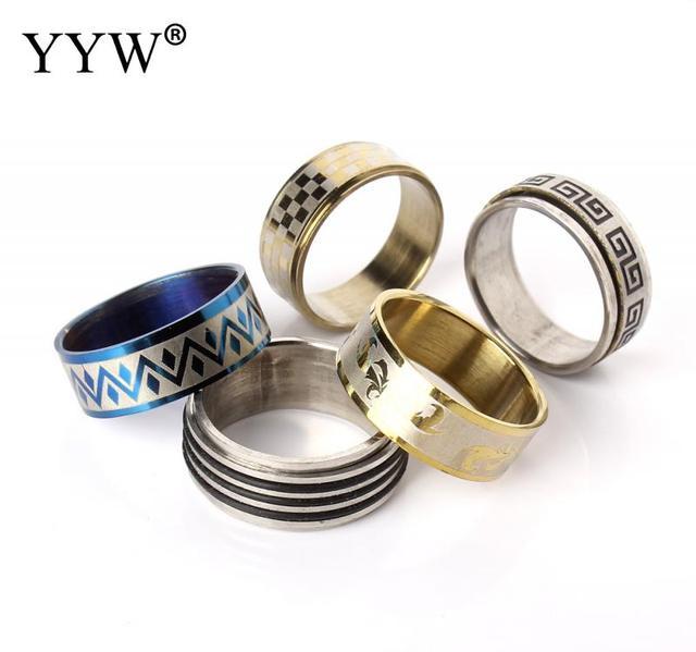 100pcs/box Mixed Styles Superman Finger Ring men Women Punk Cross Stainless Steel Jewelry Masonic Finger Rings Anillo De Dedo