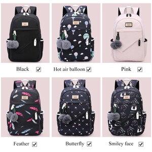 Image 4 - ファッション 2020 女性バックパックナイロン Backbag Mochilas 女性 bagpacks 十代の少女 Bagpack Backbag リュック