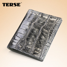 TERSE_Hot selling handmade crocodie ladies short wallet luxury brand 6 colors card wallet fashion wallet for women factory price