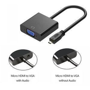Image 3 - 1080P Micro HDMI zu VGA Video Converter Adapter Kabel Für PC Monitor Projektor