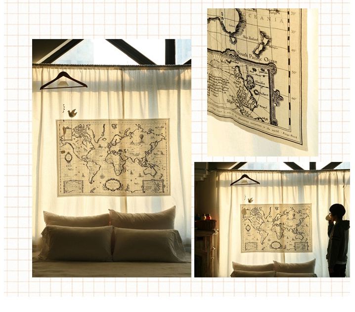 1piece vintage world map fabric panel sewing quilt patchwork 1piece vintage world map fabric panel sewing quilt patchwork material cotton linen cloth diy tablecloth curtain in fabric from home garden on gumiabroncs Gallery