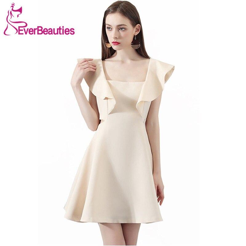 Short   Cocktail     Dresses   2019 Knee Length Women Prom Party   Dresses   Homecoming   Dresses   Robe De   Cocktail