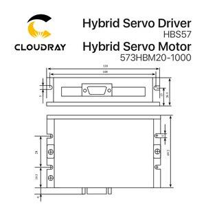 Image 4 - Cloudray Leadshine HBS57 + 573HBM20 1000 HBS507 nema23 3 fase híbrida Servo de ciclo cerrado
