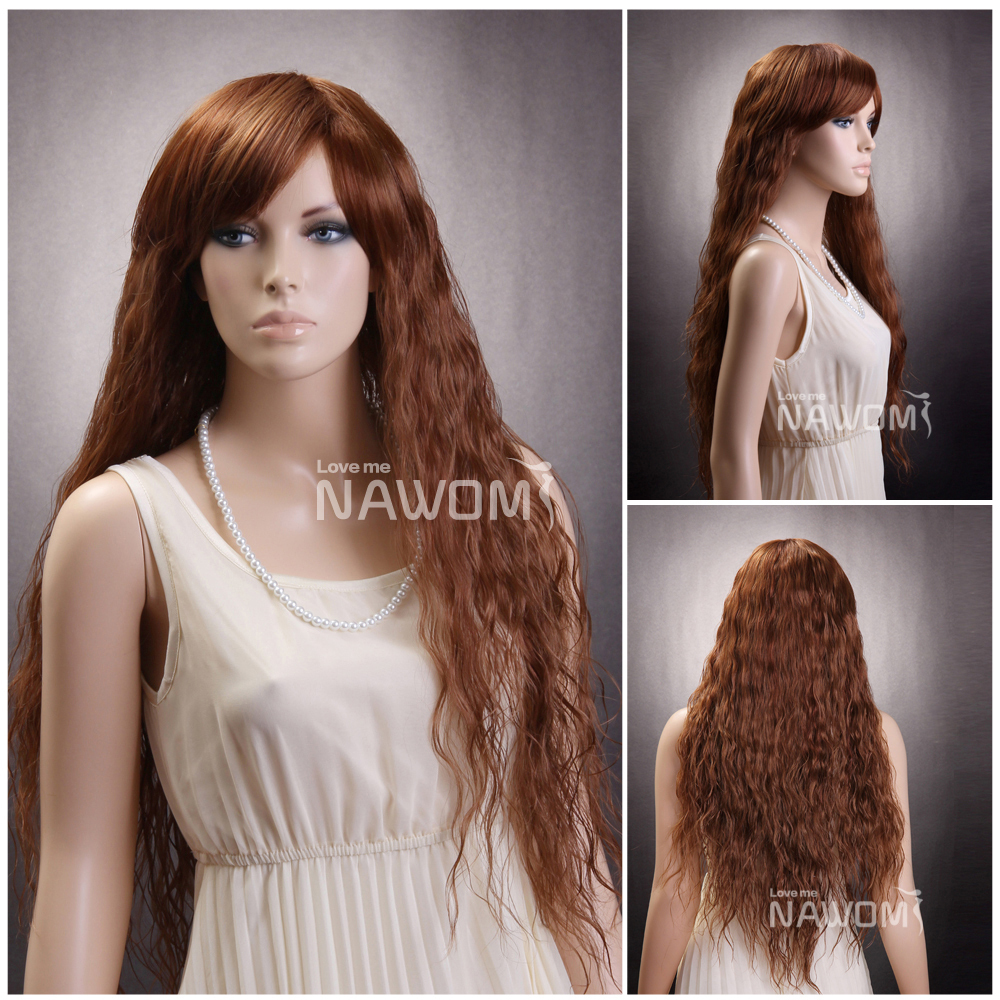 New Style girls Sexy Fashion Fluffy Full Curly Wave Wig Long Light ...