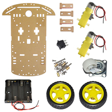 2WD Smart Car Robot Chassis for Arduino with Motor Speed Encoder Battery Holder