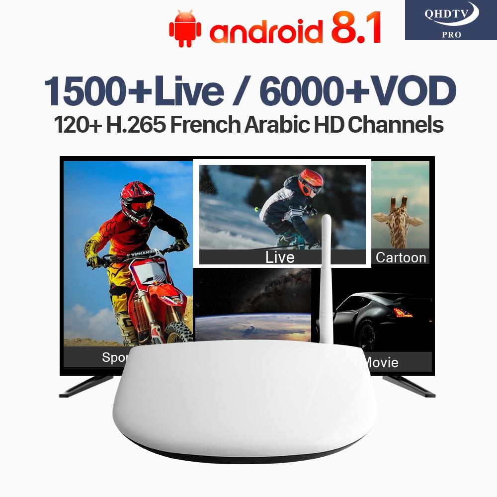 QHDTV Pro IPTV Subscription Android 8.1 Q1304 4K IPTV Code 1 Year IPTV France Belgium Dutch Arabic Tunisia Algeria IP TV h96 pro plus iptv france box qhdtv iptv subscription android 7 1 tv receivers iptv arabic tunisia algeria belgium france