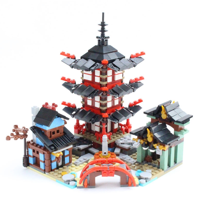 Ninja Temple of Airjitzu Smaller Version 800 pcs Blocks Set Compatible with Toys for Kids Building 1326pcs ninjaos temple of ninjagoes blocks set toy compatible with legoings ninja movie building brick toys for children