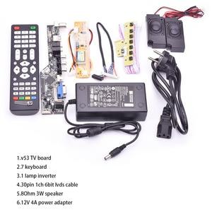 Image 3 - V53 evrensel TV lcd kontrol panosu 10 42 inç lvds sürücü panosu TV VGA AV HDMI USB DS.V53RL.BK tam kiti için LTN154AT01