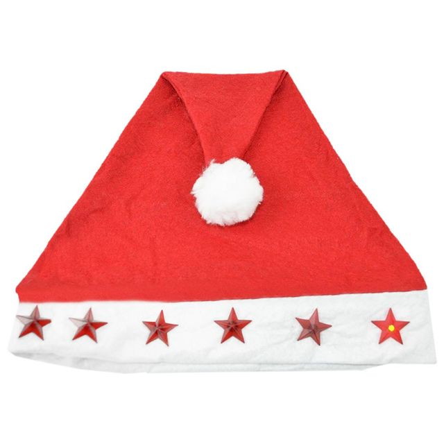 new santa hat with flashing lights adult size light up christmas hat