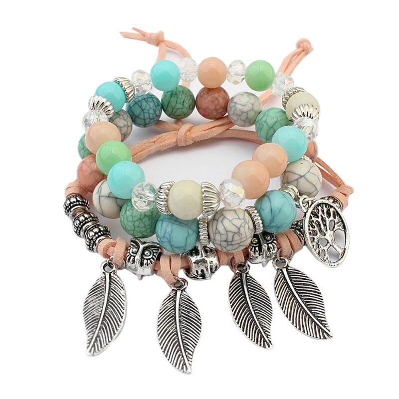 Fashion Handmade Bohemian Vintage Multilayer Bracelets Women Summer Beach Trendy Bracelets Accessories Gifts