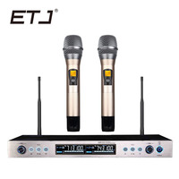 Free shipping! New High Quality Professional Dual Wireless Microphone System stage performances a two wireless microphone