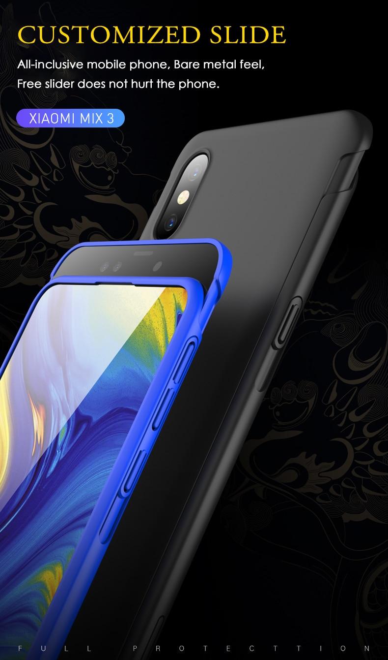 HTB13iMDaOYrK1Rjy0Fdq6ACvVXa6 GKK Original Case for Xiaomi Mi Mix 3 Case Slide Armor Anti-drop 2 in 1 Hard Matte Back Cover for Xiaomi mi mix3 Case Fundas