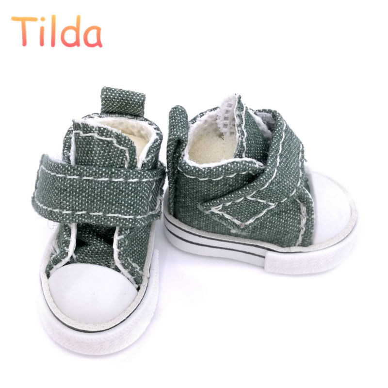 Tilda 3.5cm Doll Shoes for Blythe Doll Toy,1/8 Mini Canvas Dolls Shoes for BJD Azone,Casual Doll Sneakers Accessories 12 pairs 1pair new fashion sd bjd doll accessories casual shoes for bjd doll 1 4 1 3