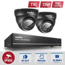 SANNCE 4CH 1080P HDMI CCTV System 4IN1 DVR 720P 1280tvl CCTV Security Cameras P2P Outdoor Waterproof Video Surveillance kit