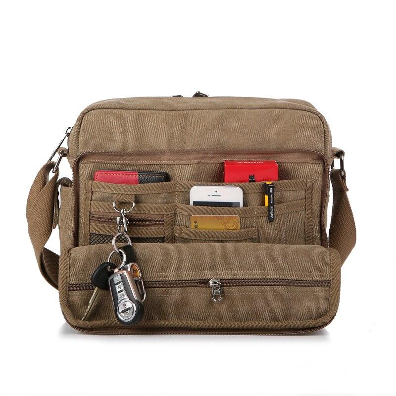 New 2016 Multifunctional Men Crossbody Messenger Bags Canvas Vintage Casual Shoulder Bags Men s Travel Bags
