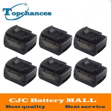 6X High Quality 14.4V 4000mAh Power Tool Li-ion Battery For Bosch BAT607 BAT607G BAT614 BAT614G 2 607 336 318