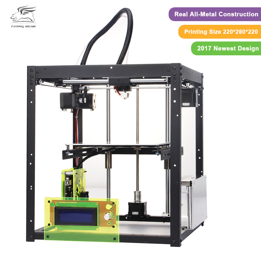 2017 New Upgraded Black Flyingbear P905 DIY 3d Printer kit All metal High Quality Precision Makerbot